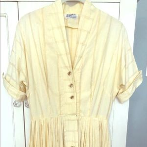 Vintage 1950's yellow dress made in L.A.